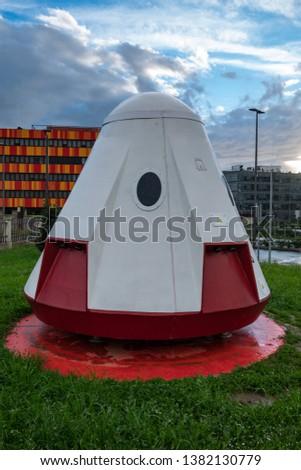 space capsule or spacecraft or spaceship or