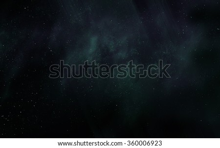 Space digital art background with realistic nebula and stars.