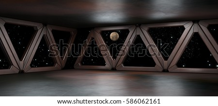 Space environment  ready for comp of your characters 3D rendering Stockfoto ©