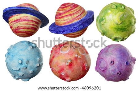 colors of planets. colors of planets. Space fantasy six planets