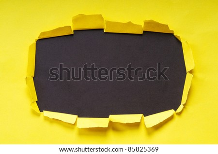 Space for your message on torn paper