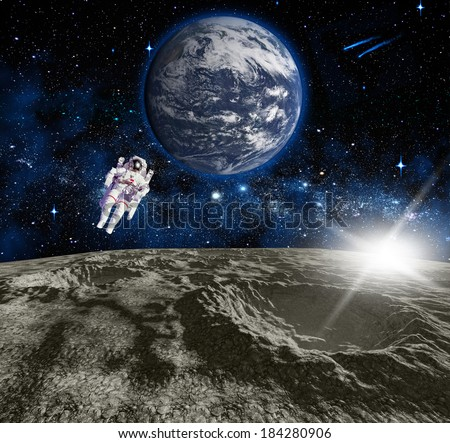 Space landscape. Elements of this image furnished by NASA