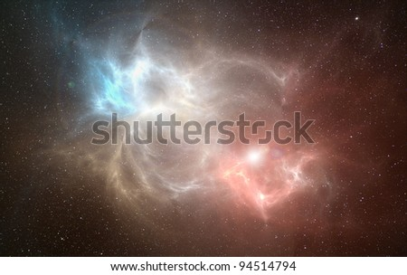 Space nebula. - stock photo