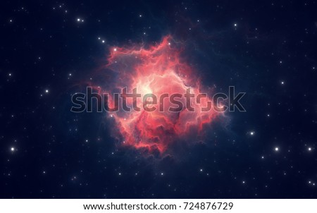 Space nebula, for use with projects on science, research, and education. Illustration