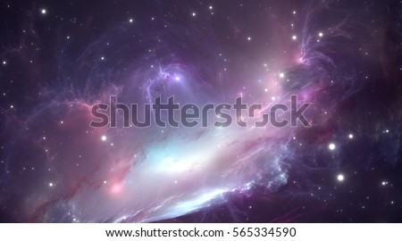 Stock Photo Space nebula. Illustration, for use with projects on science, research, and education.