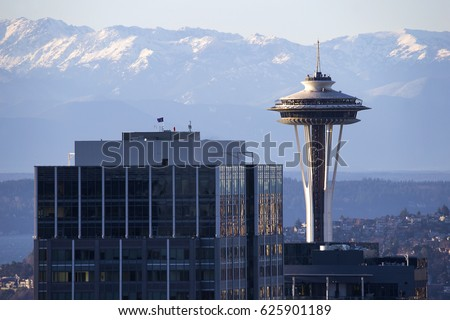 space needle with olympic...