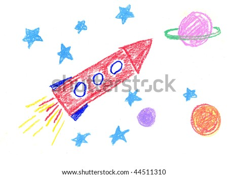 Space on the child's drawing