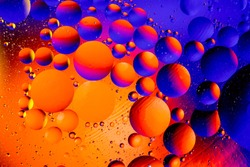 Space or planets universe cosmic abstract background. Abstract molecule atom sctructure. Water bubbles. Macro shot of air or molecule. Biology, phycics or chymistry abstract background.