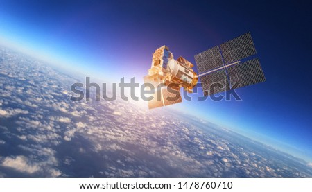 space satellite future technology background
