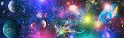 Space scene with planets, stars and galaxies. - Elements of this Image Furnished by NASA ,