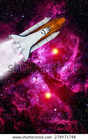 Space shuttle rocket launch spaceship travel astronaut. Elements of this image furnished by NASA.