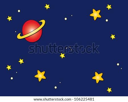 space sky cartoon