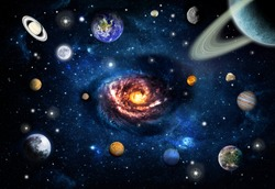 space, solar system and planets