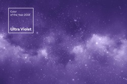 space star background and nebula in colors of the year 2018 ultra violet pantone