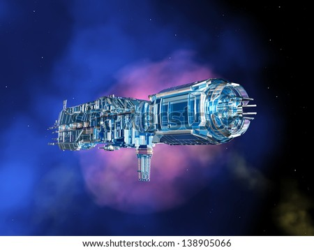 Space Station in Space Computer generated 3D illustration
