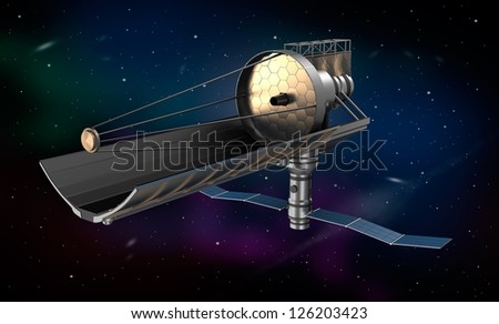 Space telescope in orbit. My own design.