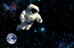 space travel the astronaut.elements of this image furnished by NASA