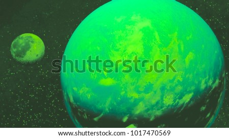 space view of the stars of the sun and planet Earth #1017470569