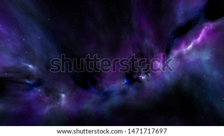 Space with stars and light #1471717697