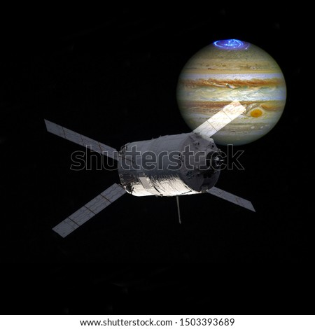 Spacecraft. Cosmic art, science fiction wallpaper. Elements of this image furnished by NASA
