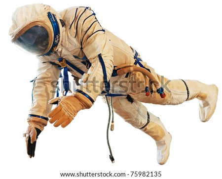 Spaceman isolated on white. Clipping path included.