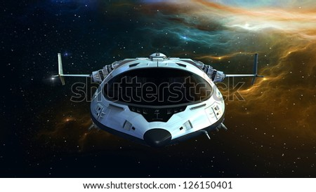 spaceship - stock photo