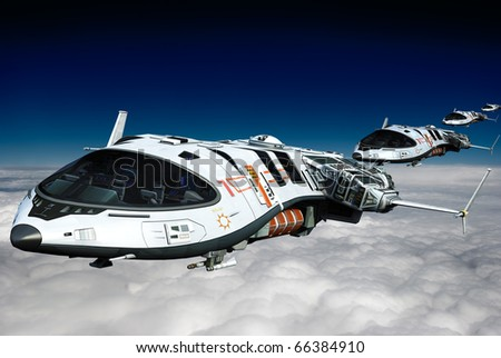 spaceship above the clouds the long line
