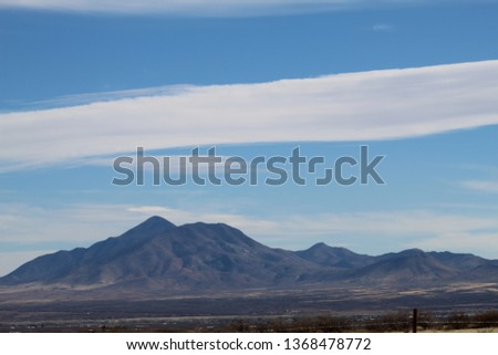 Spaceship Clouds over Cochise #1368478772