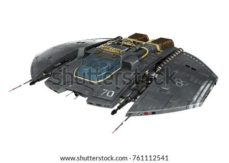 spaceship 3d illustration