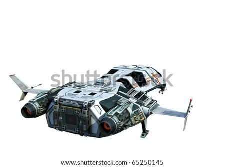 spaceship going home white background