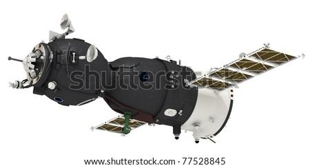 Spaceship isolated on white background