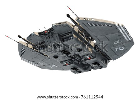 spaceship nice view 3d illustration
