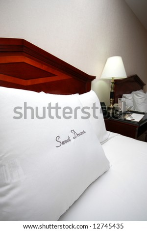 Spacious and Cozy bed with a sweet dreams pillow