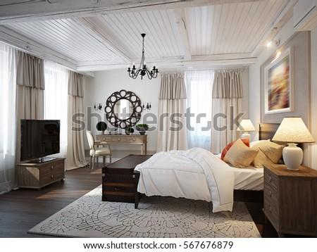 spacious bedroom mediterranean...
