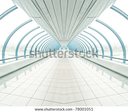 spacious diminishing transparent hallway