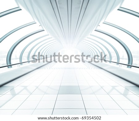 spacious modern hall inside airport
