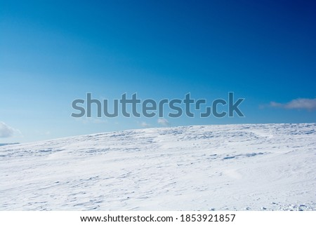 Spacious snowfield and blue sky  Stock photo ©