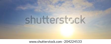 Spactacular evening Sunset background shot #204224533