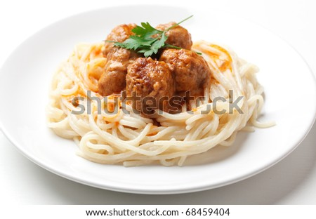 Spaghetti and meat balls