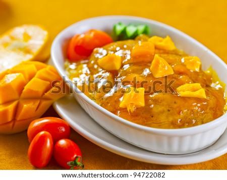Spaghetti Mango Sauce