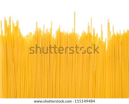 Spaghetti noodle background - stock photo