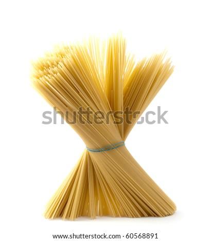 spaghetti on a white background