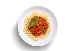 Spaghetti on isolated white background