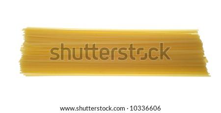 spaghetti pasta isolated on white background