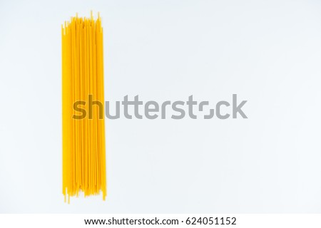 spaghetti white background
