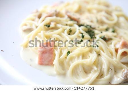 spaghetti white sauce with salmon