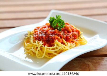 Spaghetti with Chicken Sauce