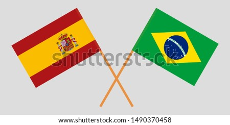 Spain and Brazil. The Spanish and Brazilian flags