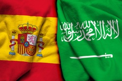 Spain and Saudi Arabia flag together