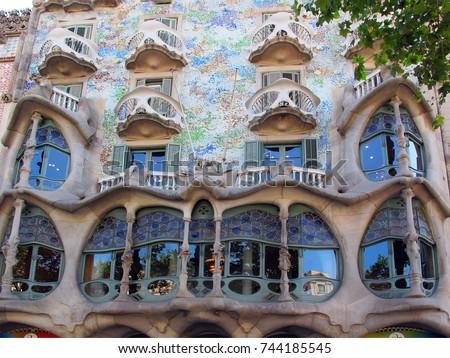 Shutterstock Spain Barcelona Casa Batllo, Antonio Gaudi